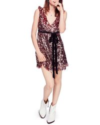 Free People - Siren Sequined Mini Dress - Lyst
