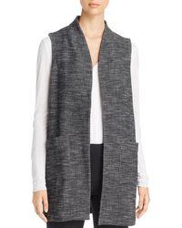 Eileen Fisher - Textured Knit Long Vest - Lyst