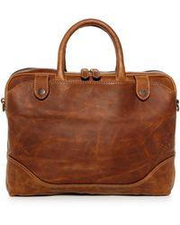 Frye - Logan Slim Leather Briefcase - Lyst