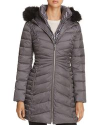Laundry by Shelli Segal - Mixed Quilt Puffer Jacket - Lyst