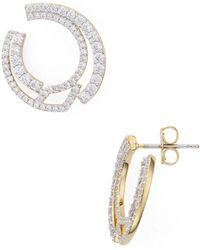 Nadri - Ripple Front To Back Earrings - Lyst