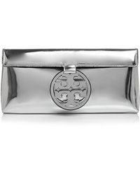 Tory Burch - Miller Mirror Metal Patent Leather Clutch - Lyst
