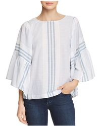 Beach Lunch Lounge - Mixed Stripe Flare Sleeve Top - Lyst