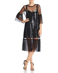 French Connection - Eve Sparkle Mesh-and-sequin Dress - Lyst