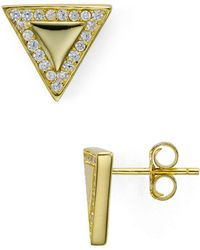 Aqua - Triangle Stud Earrings - Lyst