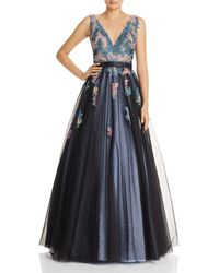 Basix Black Label - Embroidered Ball Gown - Lyst