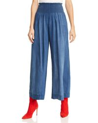 Rebecca Taylor - La Vie Tissue Denim Pants Giverny Wash, Size X-small - Lyst
