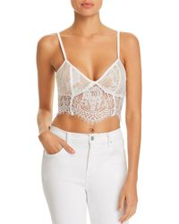 Tiger Mist - Emery Lace Bustier Cropped Top - Lyst