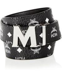 MCM - Claus Visetos Reversible Leather Belt - Lyst