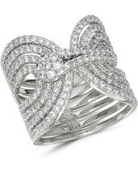 Bloomingdale's - Diamond Interlocking Statement Ring In 14k White Gold - Lyst
