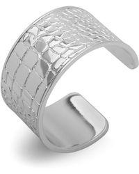 Ralph Lauren - Lauren Croc Embossed Cuff Bracelet - Lyst