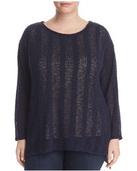 Vince Camuto Signature - Dropped-shoulder High/low Sweater - Lyst