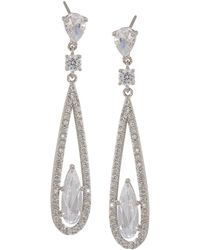 Carolee - Long Linear Drop Earrings - Lyst