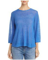 Eileen Fisher - Semi-sheer Knit Top - Lyst