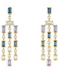 David Yurman - Aquamarine & Tanzanite With Diamonds - Lyst