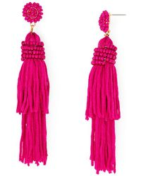 Aqua - Fringed Earrings - Lyst