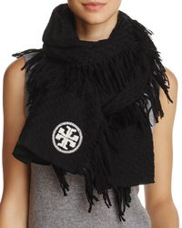 Tory Burch - Textured Jacquard Oblong Scarf - Lyst