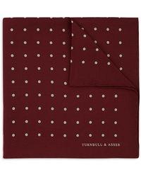 Turnbull & Asser - Basic Dot Pocket Square - Lyst