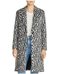 Maje - Garouny Leopard-print Coat - Lyst