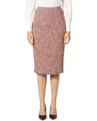 L.K.Bennett - Cesilia Tweed Pencil Skirt - Lyst