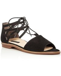 Paul Green - Women's Morea Nubuck Leather Lace Up Sandals - Lyst
