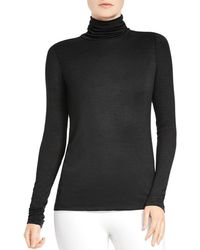 Halston - Slub Knit Turtleneck - Lyst