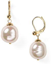 Majorica - Baroque Simulated Pearl Drop Earrings - Lyst