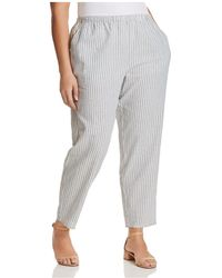 Eileen Fisher - Striped Cropped Trousers - Lyst