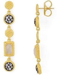Freida Rothman - Station Drop Earrings - Lyst