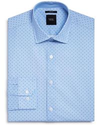 W.r.k. - Textured Ground Dot Slim Fit Dress Shirt - Lyst