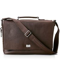 Shinola - Luxe Leather Messenger Bag - Lyst