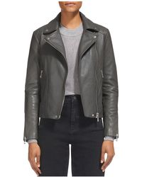 Whistles - Bella Quilted-detail Moto Jacket - Lyst