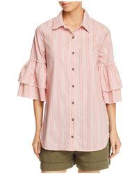 Ella Moss - Striped Tiered-sleeve Shirt - Lyst