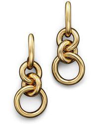 Roberto Coin - 18k Yellow Gold Three Circle Drop Earrings - Lyst