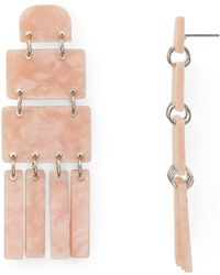 Aqua - Marble Earrings - Lyst