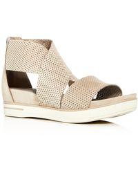 Eileen Fisher - Womens' Sport Perforated Nubuck Leather Platform Sandals - Lyst