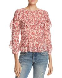 Olivaceous - Floral Ruffle Blouse - Lyst