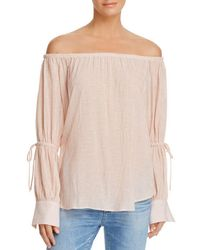 AG Jeans - Talluah Off-the-shoulder Top - Lyst