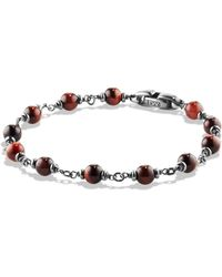 David Yurman - Spiritual Beads Rosary Bracelet In Red Tiger Eye - Lyst