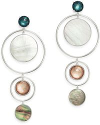 Ippolita - Clear Quartz & Shell Drop Earrings - Lyst