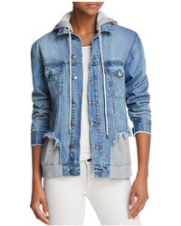 Aqua - Layered-look Denim Jacket - Lyst