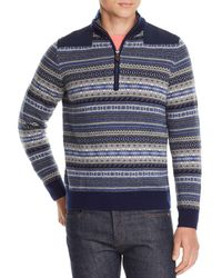 Vineyard Vines - Fair-isle Half-zip Pullover Sweater - Lyst
