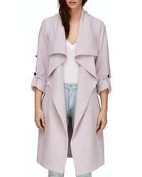 SOIA & KYO - Soia And Kyo Ornella Draped Trench Coat - Lyst