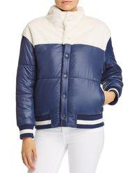 Mother - Faux-fur Detail Puffer Jacket - Lyst