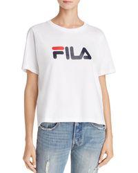 2d1f5c6aec61cd Fila - Pure Cotton Jersey T-shirt - Lyst