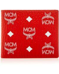 MCM - Visetos Logo Monogram Bi-fold Wallet - Lyst