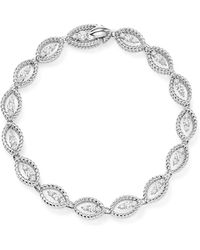 Roberto Coin - 18k White Gold New Barocco Diamond Bangle - Lyst