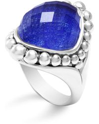 Lagos - Sterling Silver Maya Doublet Dome Ring With Lapis - Lyst