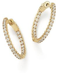 Bloomingdale's - Diamond Inside Out Hoop Earrings In 14k Yellow Gold, 1.0 Ct. T.w. - Lyst