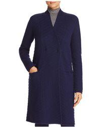 Armani - Wool & Cashmere Chevron-pattern Coat - Lyst